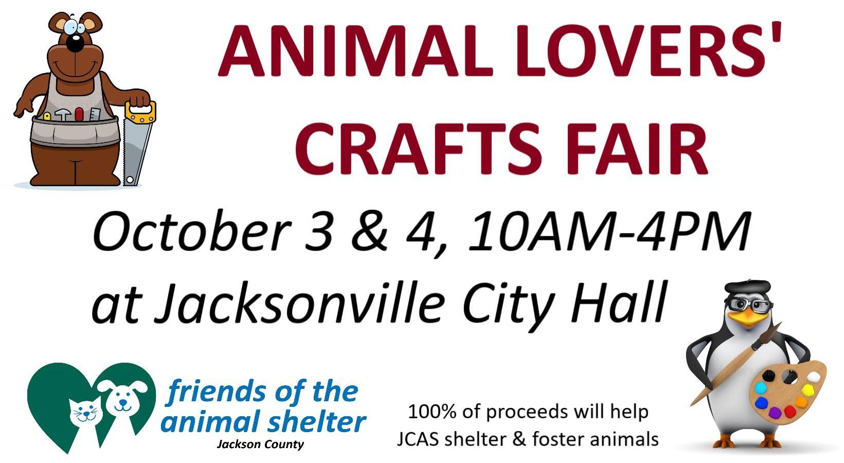 Animal Lovers' Crafts Fair  Oct. 3-4